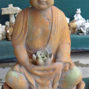 #2 - Large Thai Lotus Buddha and Base (rust_green)