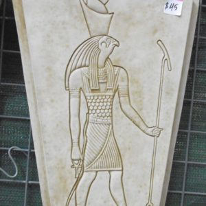 #3 - Egyptian Horus Concrete Plaque (moss green)