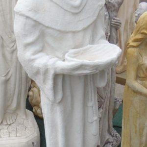 #4 - St Francis Concrete Statue (white)