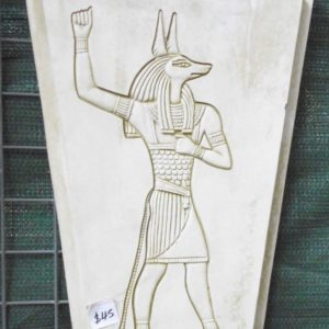 #5 - Egyptian Anubis Concrete Plaque (moss green)