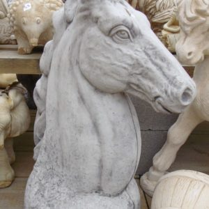#5 - Large Concrete Horse Head (grey)