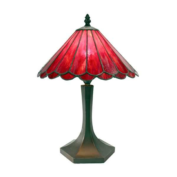 10 Red Jessie Lamp