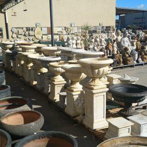 Concrete Urns & Pedestals