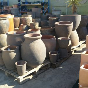 Old Stone Pots