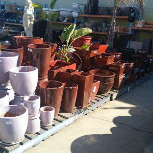 Red Glazed Pots