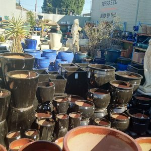 Black Glazed Pots