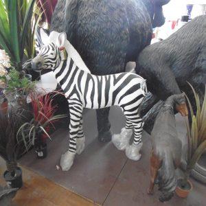 Large Resin Zebra Statue