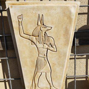 Jackal Headed Anubis Wall Plaque