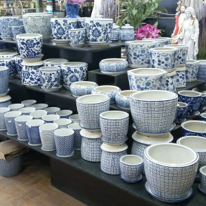 Blue and White Ceramic Pots